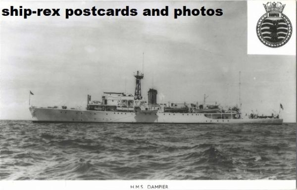 DAMPIER (1948, Royal Navy) plain-back card